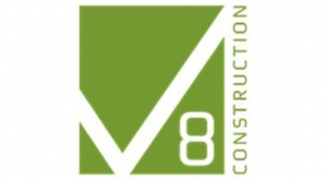 V8 construction logo